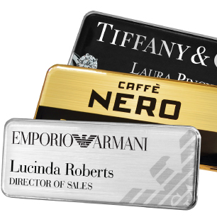 Name badges international staff name badges magnetic badges prestige premium metal name badges solutioingenieria Choice Image